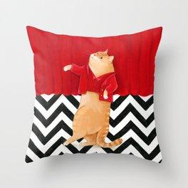 Twin Peaks cat  Throw Pillow