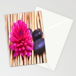 Zen Stones And Dahlia Stationery Cards