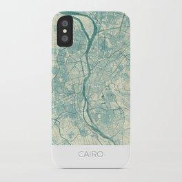 Cairo Map Blue Vintage iPhone Case
