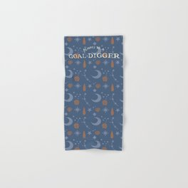 Pattern with Illustration and Hand Lettering of the Goal Digger quotet–Motivation for Lady Bosse Hand & Bath Towel