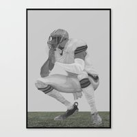 football Canvas Prints featuring football by Johnny Jason