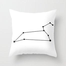 Leo Star Sign Black & White Throw Pillow