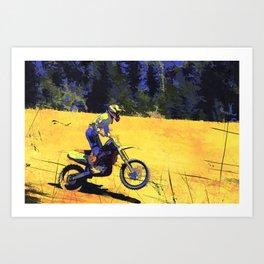 Riding Hard - Moto-x Champion Art Print