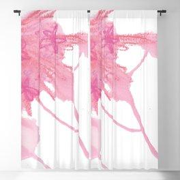 Pink Flower Cascade Blackout Curtain
