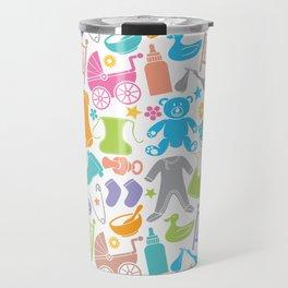 seamless pattern with baby icons Travel Mug