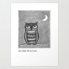 Au clair de la lune Art Print