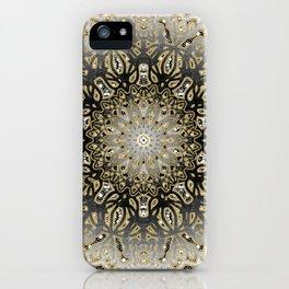 Gilded Nouveau Mandala iPhone Case