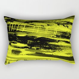 Study In Yellow - Abstract, yellow painting Rectangular Pillow
