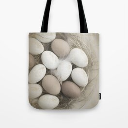 Sketch of eggs in a nest Tote Bag