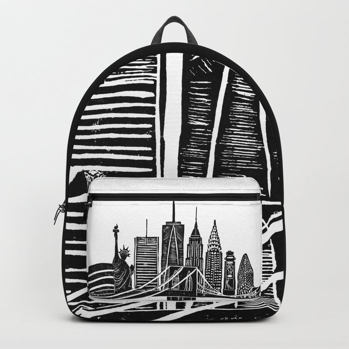 Linocut New York Backpack
