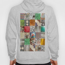 photographic texture collage Hoody
