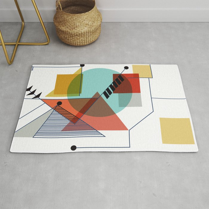 Bauhaus Kandinsky Modern Art Rug By