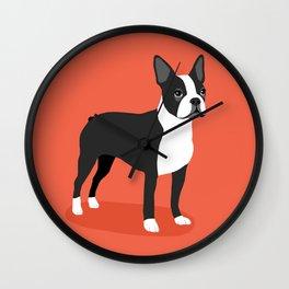 Boston Terrier 2 Wall Clock