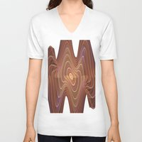 minerals V-neck T-shirts featuring Dancing Lines by thea walstra