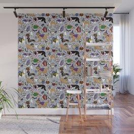 Dogs Fun Halloween Wall Mural
