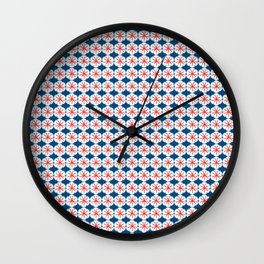 Beach Floral Wall Clock