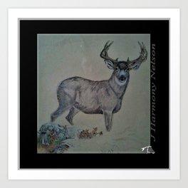 Dads Buck Art Print