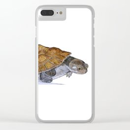 Happy Little Turtle Clear iPhone Case