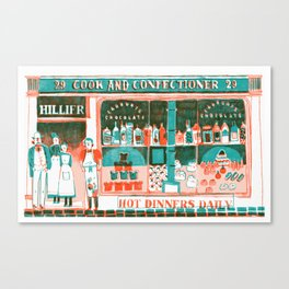 Victorian Confectioners Canvas Print