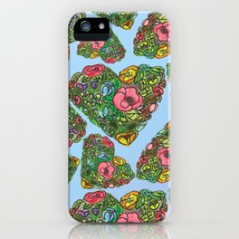 Flower`s hearts iPhone Case