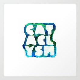 Cataclysm Multi Coloured Geometry Art Print