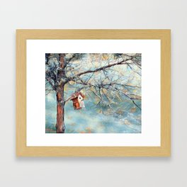 A Chickadees Home Framed Art Print