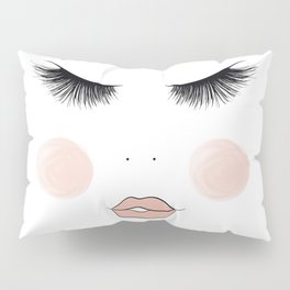 Lashes And Lips Pillow Sham