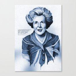 Margaret Thatcher My Way Quote Canvas Print