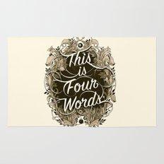Four Words Rug