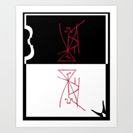 The Last Without Colors (A Tribute To Salvador Dali) Art Print
