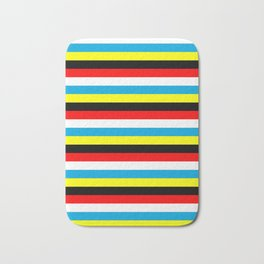 Antigua and Barbuda flag stripes Bath Mat
