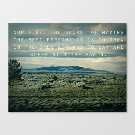 Whitman: Earth Canvas Print