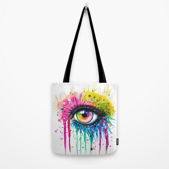 """Rainbow in your eyes"" Tote Bag"