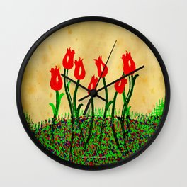 FLOWERS 015 Wall Clock