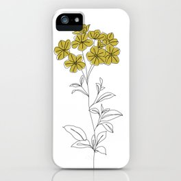 Botanical floral illustration line drawing - Iona iPhone Case