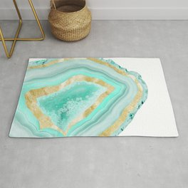 Agate Gold Foil Glam #2 #gem #decor #art #society6 Rug
