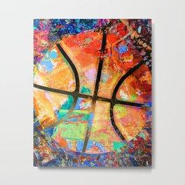 Uniquely colorful basketball art swoosh 157- sports art Metal Print