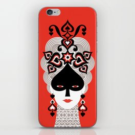 The Queen of spades iPhone Skin