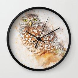 Bird animal owl art abstract Wall Clock