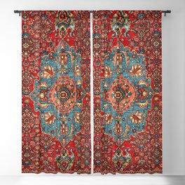 Bidjar Antique Kurdish North West Persian Rug Blackout Curtain