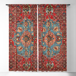 Bidjar Antique Kurdish Northwest Persian Rug Print Blackout Curtain