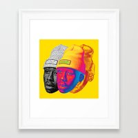 odd future Framed Art Prints featuring Tyler the Creator Odd Future OFGWKTA Glitch Art by AyeYoKP