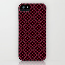 Interlocked Rings in Pink iPhone Case