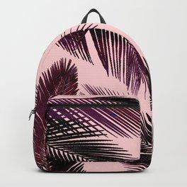 Pink Tropical Leaves Backpack