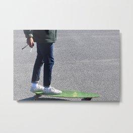 Cigs and Skate Metal Print