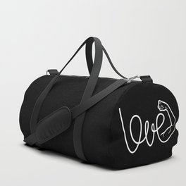 Love Is The Power (white version) Duffle Bag