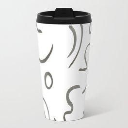 Stroke Abstract Travel Mug
