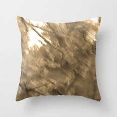 Treeage I - Sepia Throw Pillow