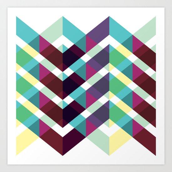 Zig Zag Pattern Art Print