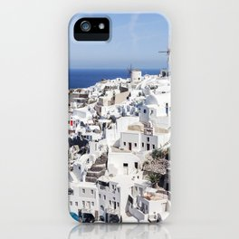White, Blue, and Charming: Oia, Santorini iPhone Case